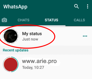 cara share video berdurasi lama di status whatsapp